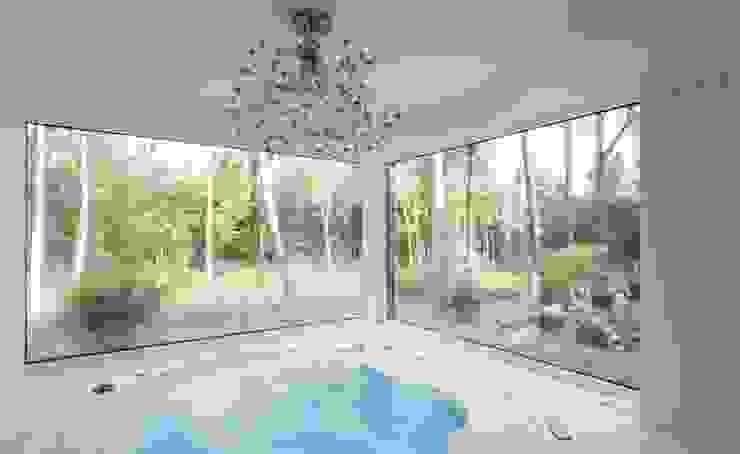 Wohnhauserweiterung D2 Moderne Pools von [lu:p] Architektur GmbH Modern