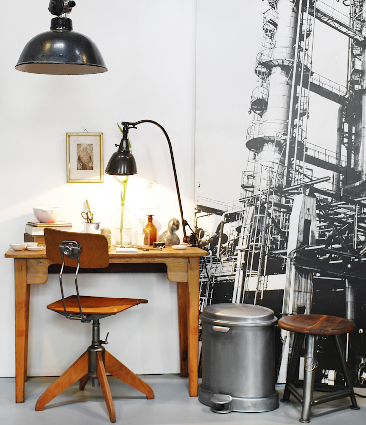 Industrial style study/office by Goldstein & Co. Industrial