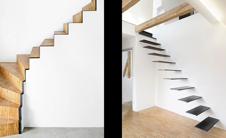Modern Corridor, Hallway and Staircase by [lu:p] Architektur GmbH Modern