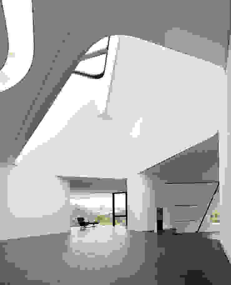 DUPLI CASA – Villa near Ludwigsburg, Germany Ausgefallener Flur, Diele & Treppenhaus von J.MAYER.H Ausgefallen