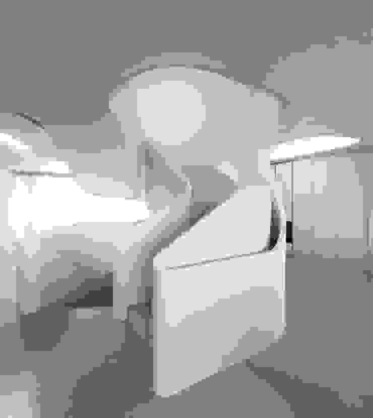 OLS HOUSE – new 4-person family home near Stuttgart Moderner Flur, Diele & Treppenhaus von J.MAYER.H Modern