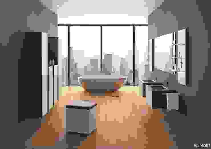 Kamar mandi: Ide desain interior, inspirasi & gambar Oleh Die Tischlerei Hauschildt