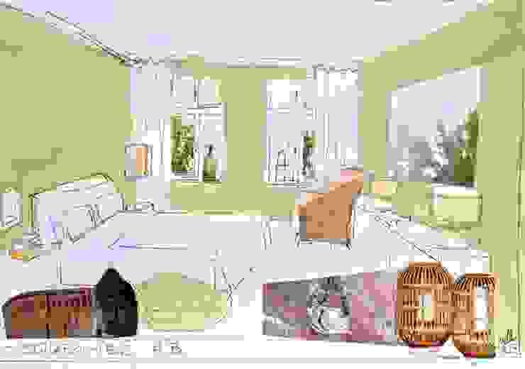 Künstlerische Skizzen zur Farbberatung Moderne Schlafzimmer von Gebr. Tonsor Modern