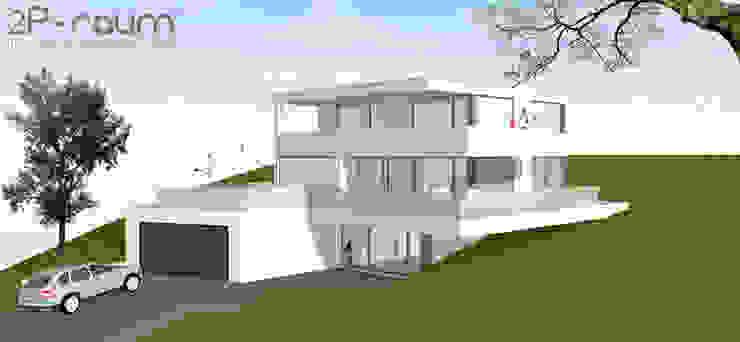 Bauhaus Villa am Hang Moderne Häuser von 2P-raum® Architekten Modern