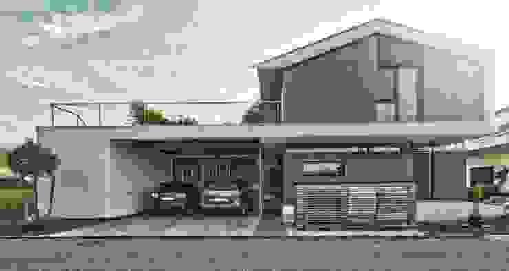 Einfamilienhaus KU09 vor der Alb Moderne Häuser von Schiller Architektur BDA Modern