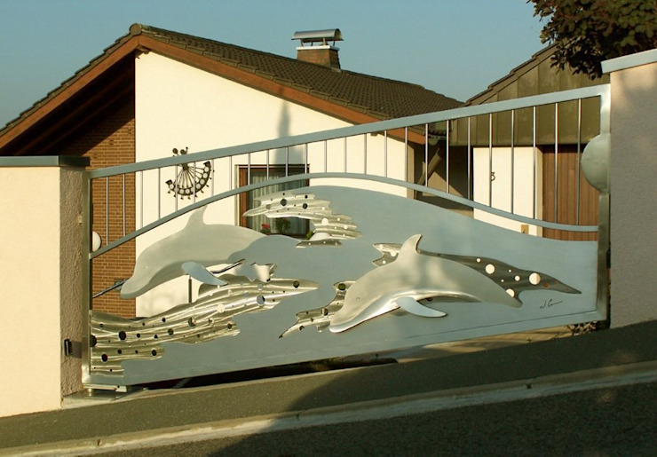 Artistic Gates Jardins modernos por Edelstahl Atelier Crouse: Moderno