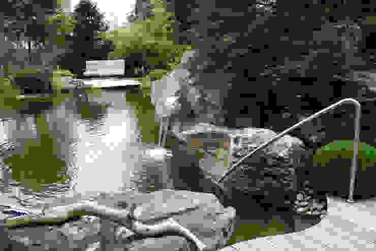 Schwimmteich in Bad Soden Moderner Garten von Kirchner Garten & Teich GmbH Modern