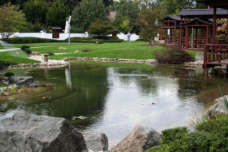 Japanischer Park in Bad Langensalza Asiatischer Garten von Kirchner Garten & Teich GmbH Asiatisch