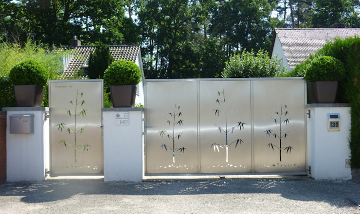 Edelstahltore Moderner Garten von Edelstahl Atelier Crouse - individuelle Gartentore Modern