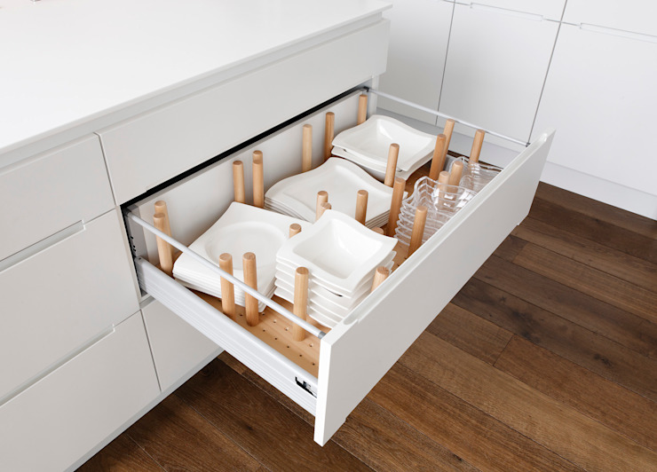 Drawer homify CuisinePlacards & stockage
