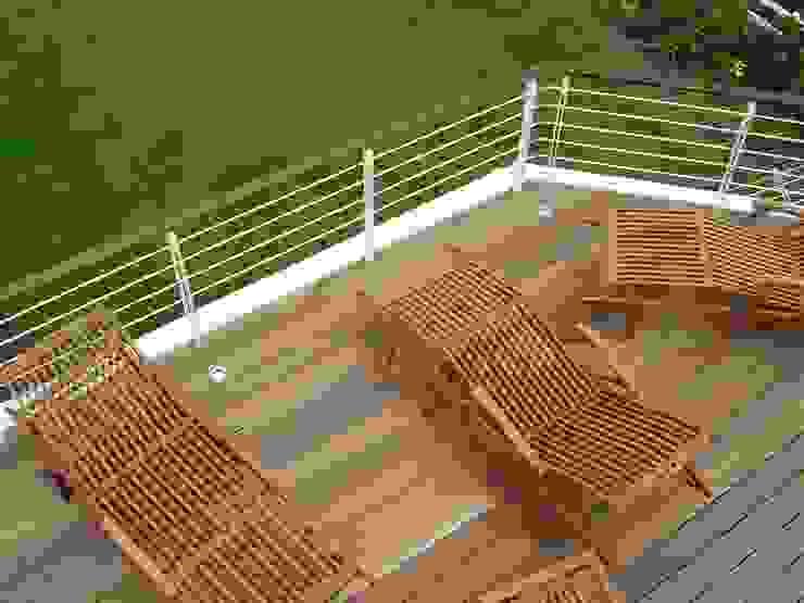 Ferienhaus Nordsee Mediterraner Balkon, Veranda & Terrasse von made by S / creativport hamburg Mediterran