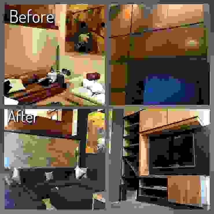 Antes y Después, En espacio interiores. de Nómada Studio