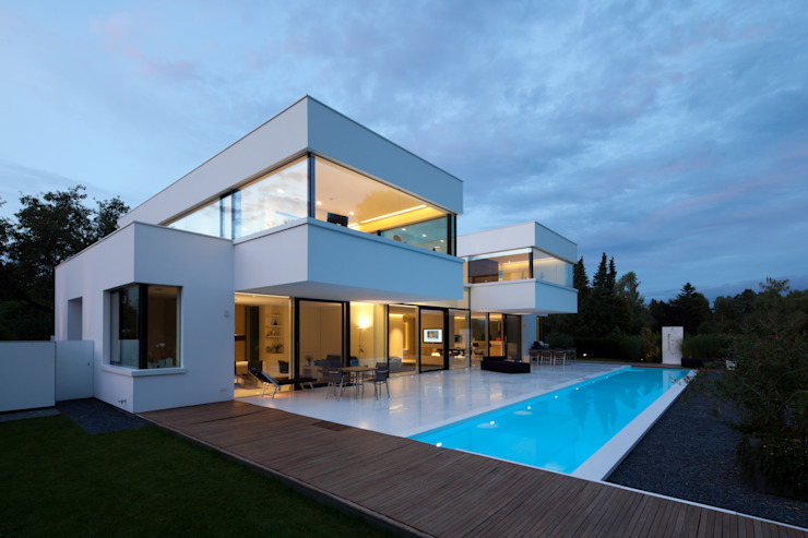 HI-MACS® 現代房屋設計點子、靈感 & 圖片