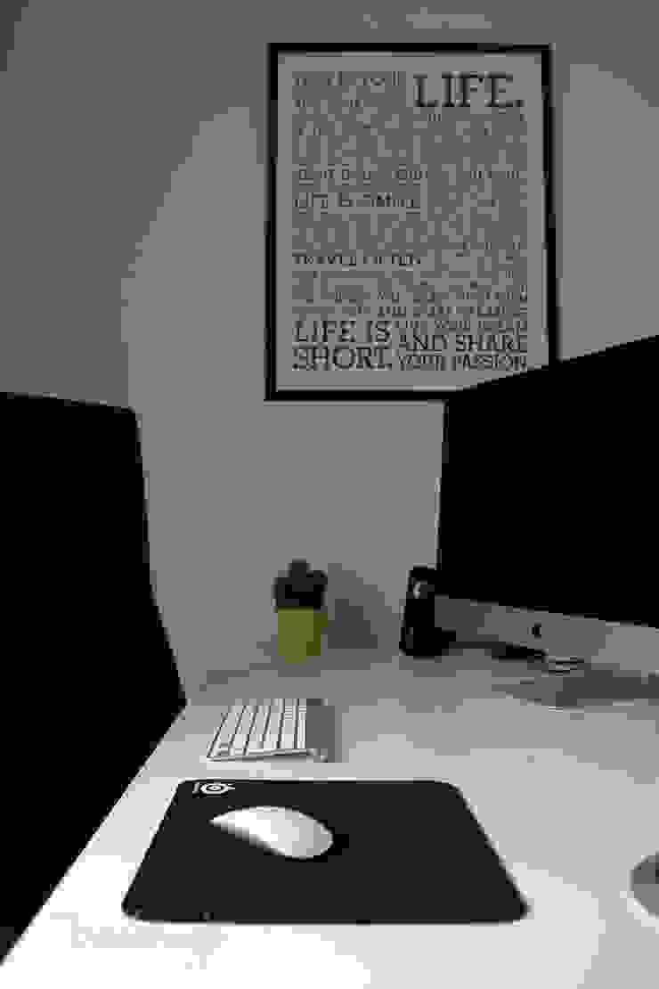 北欧デザインの 書斎 の Diseñadora de Interiores, Decoradora y Home Stager 北欧