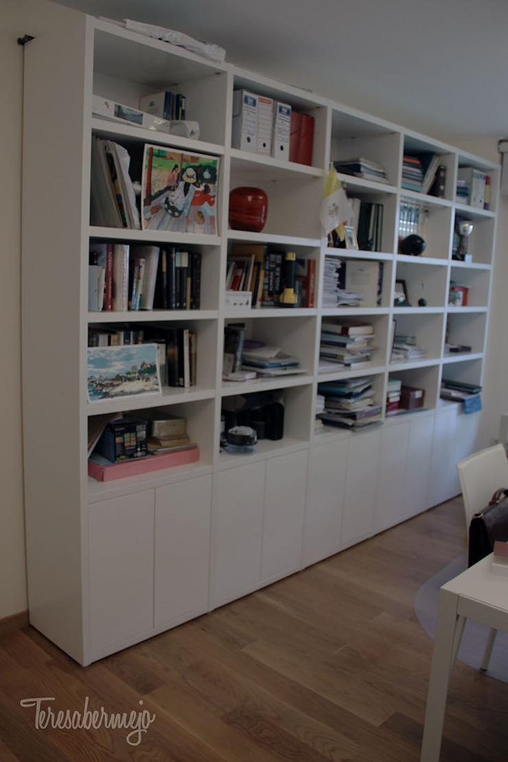 El despacho de Pablo y Graciela Estudios y despachos de estilo escandinavo de Diseñadora de Interiores, Decoradora y Home Stager Escandinavo