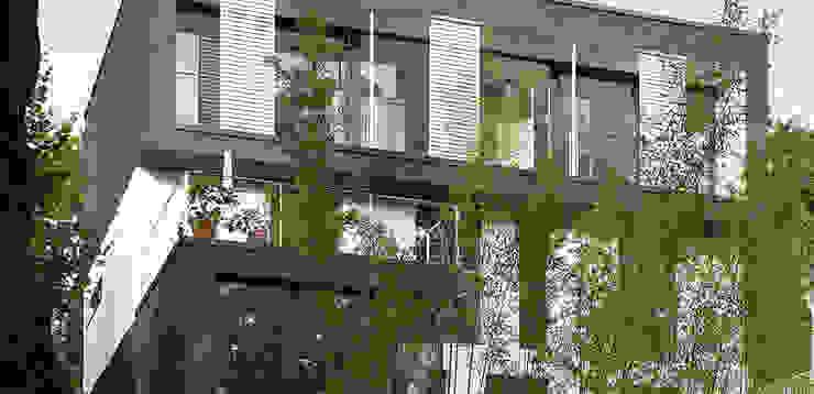 Straßenfassade Moderne Häuser von A-Z Architekten Modern