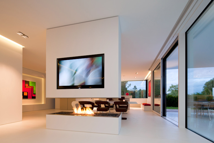 Living room by HI-MACS®, Modern