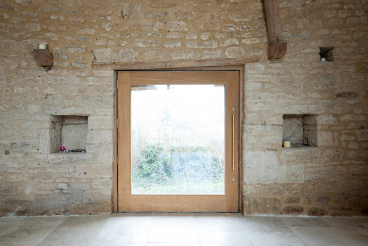 Court Farm Barn Rustic style windows & doors by Designscape Architects Ltd Rustic