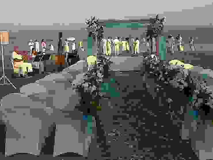 boda en la playa de alfombra roja Mediterráneo