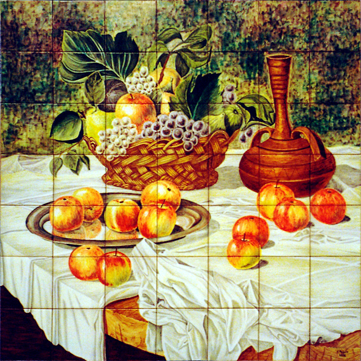 Manzanas, uvas e higos de Angulo Ceramic Art Clásico