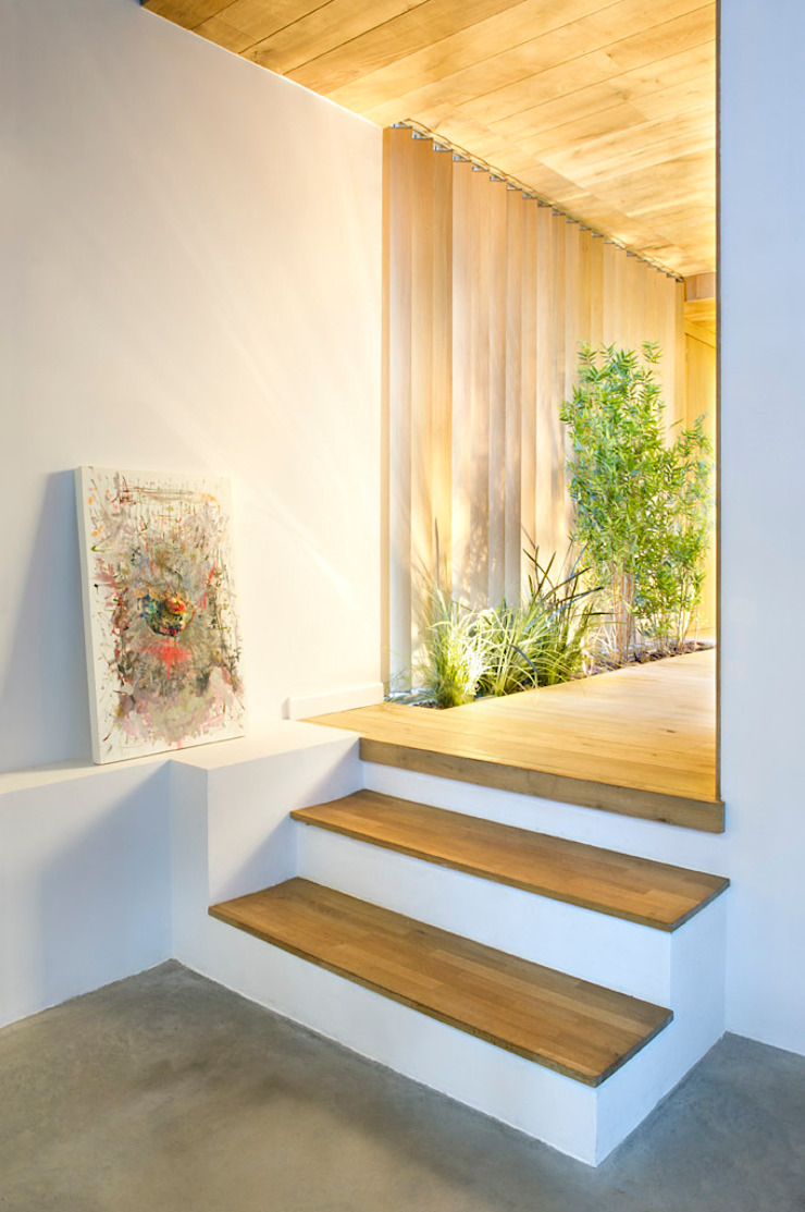 Rustic style corridor, hallway & stairs by Egue y Seta Rustic