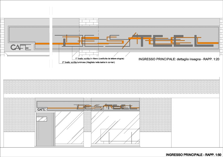 DES/teel _ cafe di Fabio Barilari Architetti Moderno