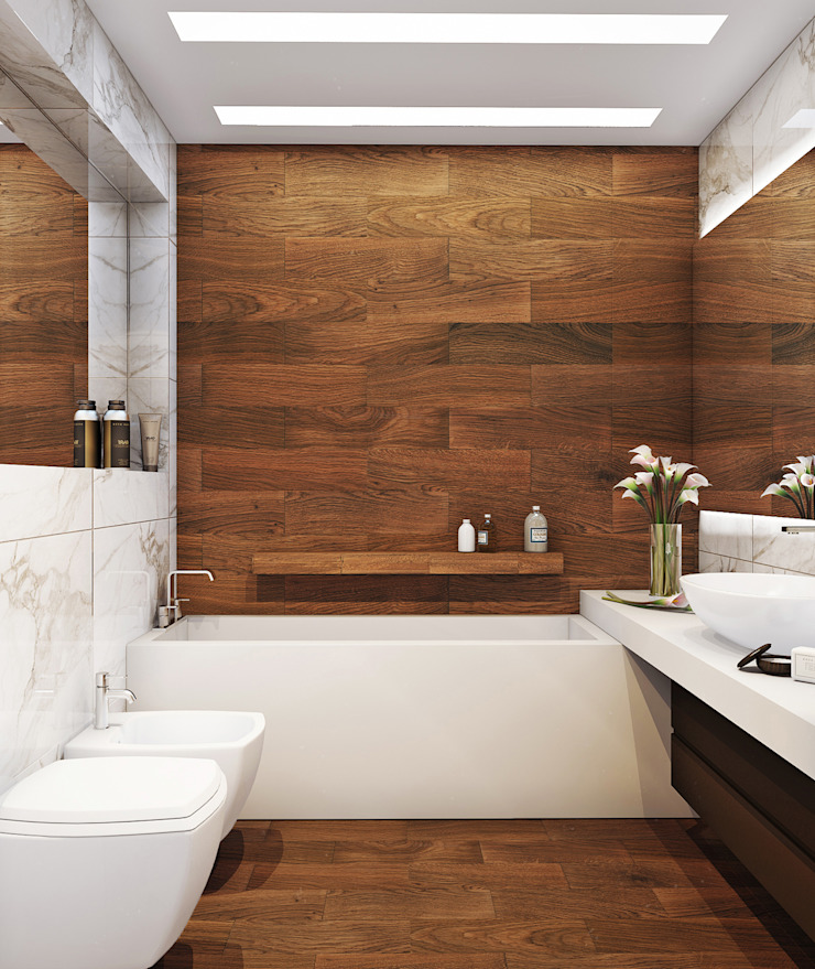 Minimalist bathroom by Angelina Alekseeva Minimalist