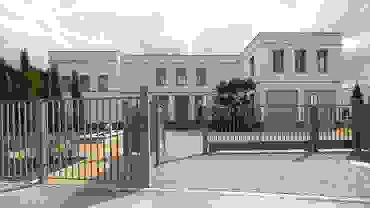 Bellevue zum Schloss - Villa mit Seitenflügeln und Hof Klassische Garagen & Schuppen von CG VOGEL ARCHITEKTEN Klassisch