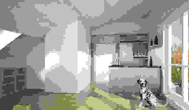 Umbau Dachgeschosswohnung, München Cocinas de Brut Deluxe Architecture + Design