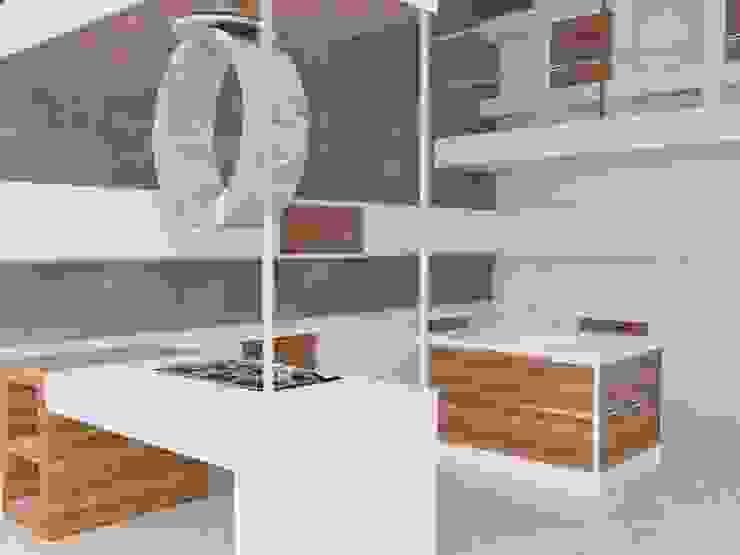 Reforma de chalet, unificación de cocina-salón. Cocinas de estilo moderno de MUMARQ ARQUITECTURA E INTERIORISMO Moderno
