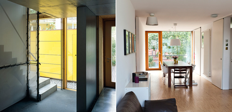 Wohn- und Geschäftshaus Moderne Bürogebäude von A-Z Architekten Modern