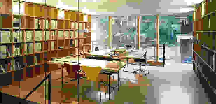 Teamzone Minimalistische Bürogebäude von A-Z Architekten Minimalistisch