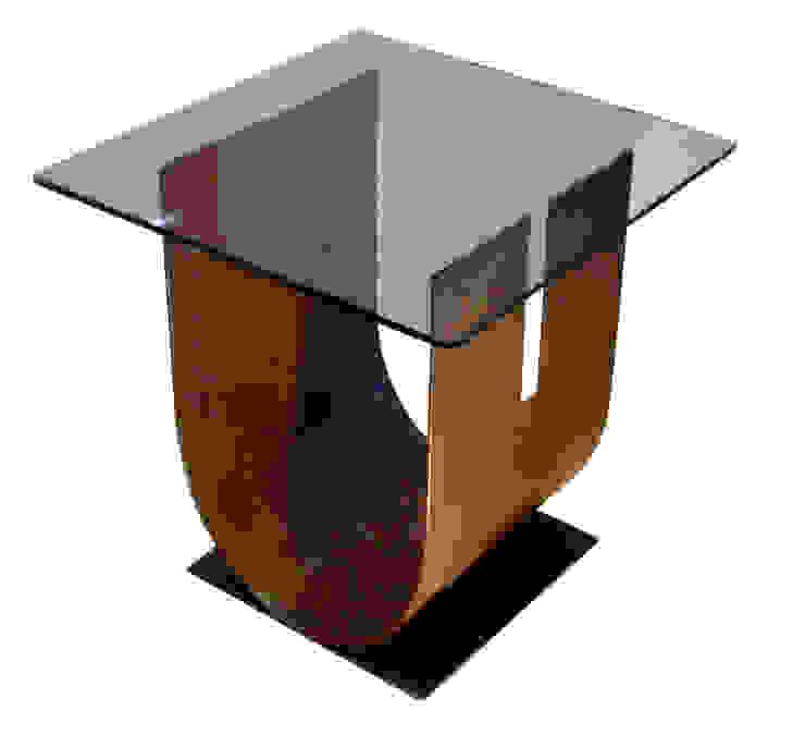 """U "" - Mesa auxiliar moderna de vidrio de GONZALO DE SALAS Moderno"