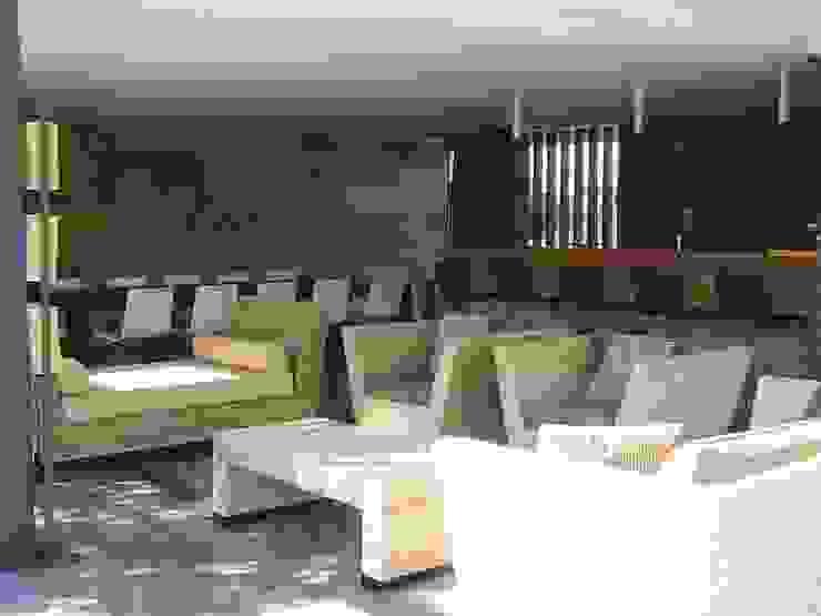 Amueblamiento y decoración de exterior. Jardines de estilo moderno de MUMARQ ARQUITECTURA E INTERIORISMO Moderno