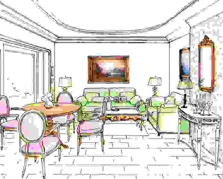Perpektive Gartenzimmer Klassische Wohnzimmer von Innenarchitektin Claudia Haubrock Klassisch