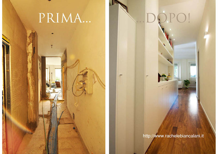Modern corridor, hallway & stairs by Rachele Biancalani Studio Modern
