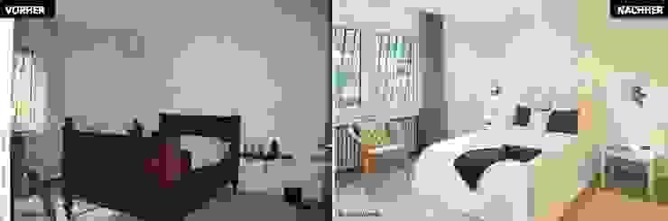 Home Staging Erbimmobilie Siebziger Jahre Schlafzimmer von raumwerte Home Staging