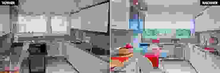 Nhà bếp: thiết kế nội thất · bố trí · hình ảnh bởi raumwerte Home Staging