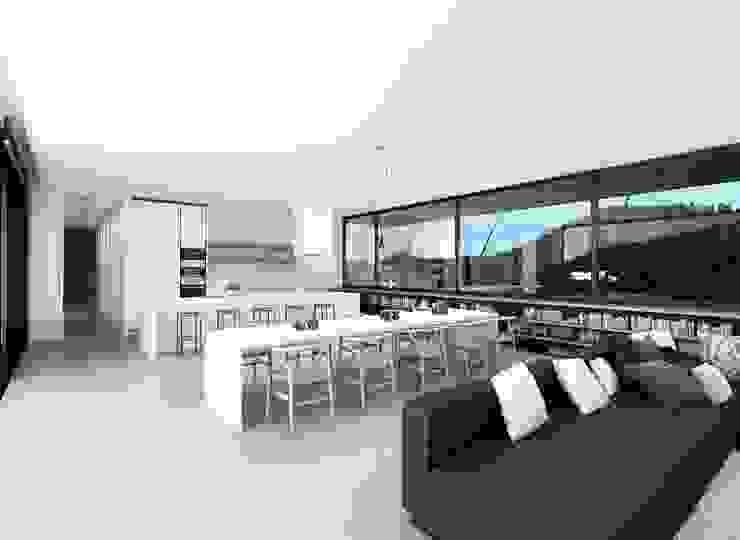 Proyecto de Vivienda Unifamiliar Comedores de estilo moderno de DUE Architecture & Design Moderno
