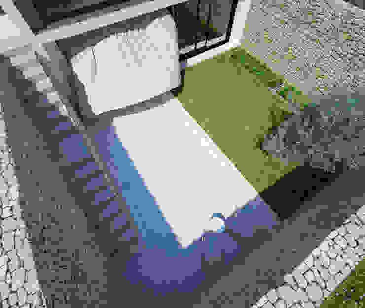 Proyecto de Vivienda Unifamiliar Balcones y terrazas de estilo moderno de DUE Architecture & Design Moderno