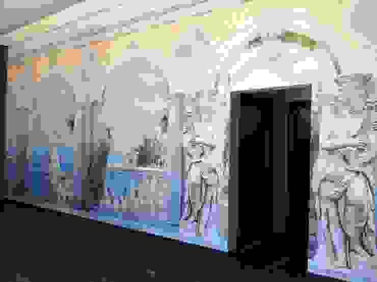 Trompe l'oeil Negozi & Locali commerciali in stile classico di Affreschi & Affreschi Classico
