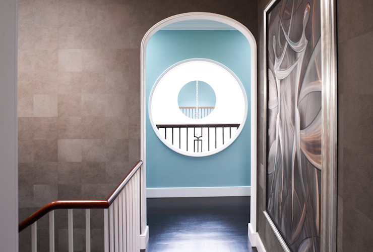 top floor landing Classic style corridor, hallway and stairs by Fisher ID Classic