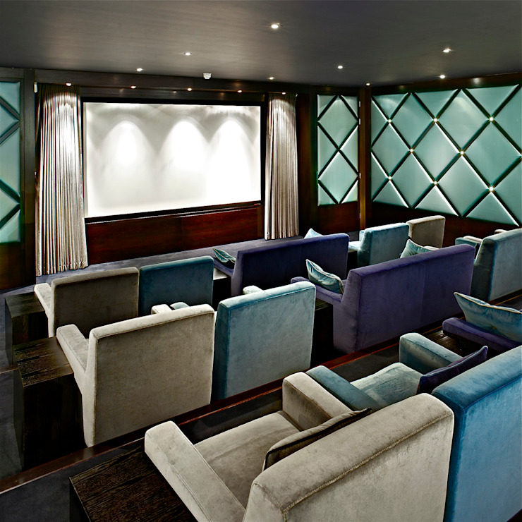 cinema Classic style media room by Fisher ID Classic