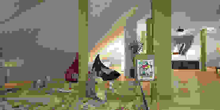 Мансарда - игровая - кинозал Гостиная в стиле минимализм от Гурьянова Наталья Минимализм