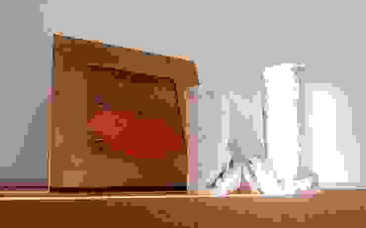 Vaso da fiori in tessuto cementato n°3-2013 di Architetto Daniele Stiavetti Moderno