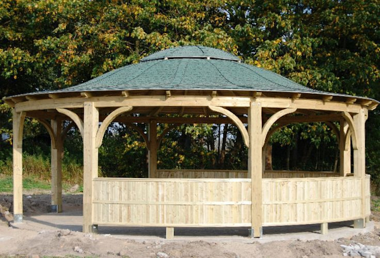 Tuin door EcoCurves - Bespoke Glulam Timber Arches,