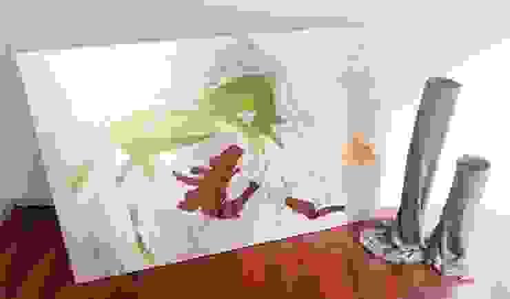 Vaso da fiori in tessuto cementato n°6-2013 di Architetto Daniele Stiavetti Moderno