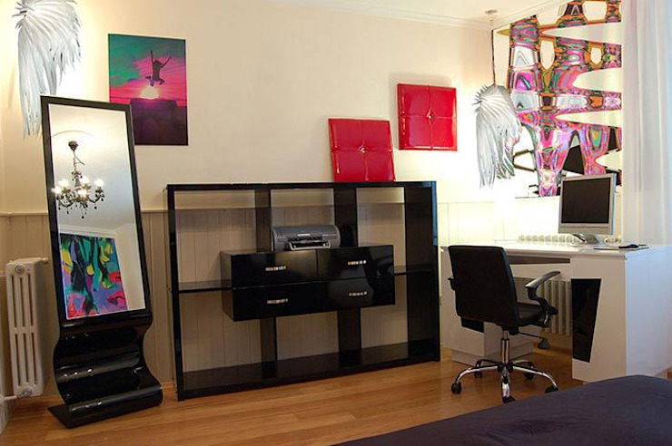 Dormitorio de adolescente Estudios y despachos de estilo moderno de FrAncisco SilvÁn - Arquitectura de Interior Moderno