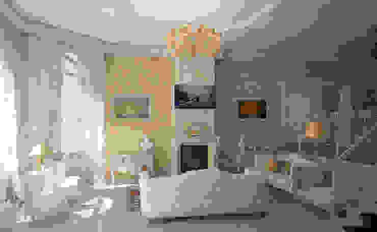 Klassische Wohnzimmer von Гурьянова Наталья Klassisch