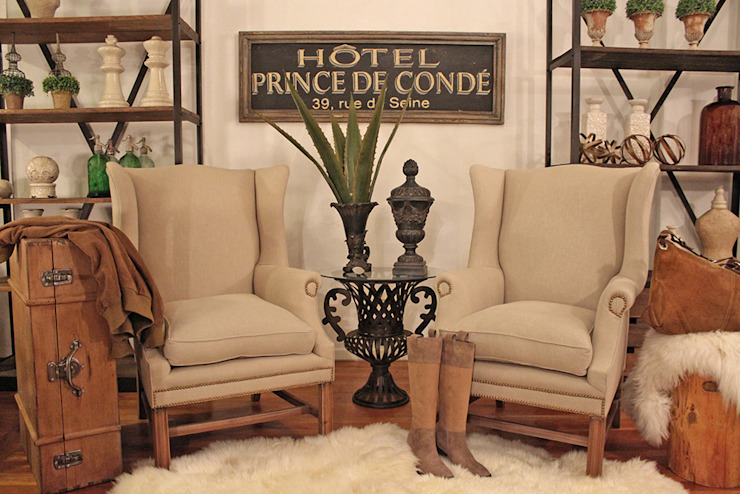 Lobby hotel Vintage Estación Ortiz Hoteles de estilo rústico
